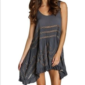 [Free People] Voile and Lace Trapeze Slip Dress